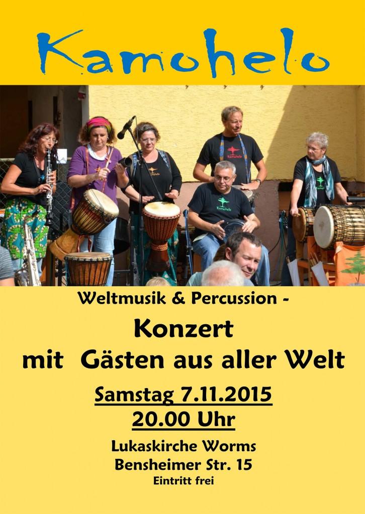 Konzert Flüchtlinge Sa. 7 Nov. 2015  20 Uhr