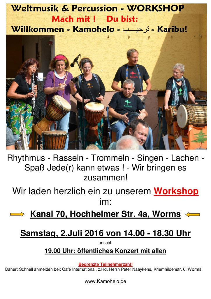 Weltmusik & Percussion Workshop