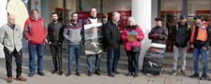 Worms sicherer Hafen Unterschriftenübergabe an OB Kissel